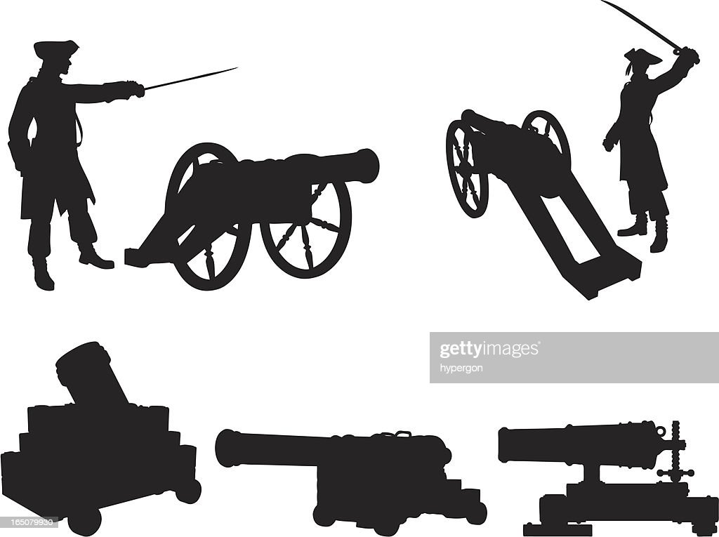 Cannons Silhouette Collection : stock illustration