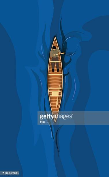 canoe - kayak stock illustrations