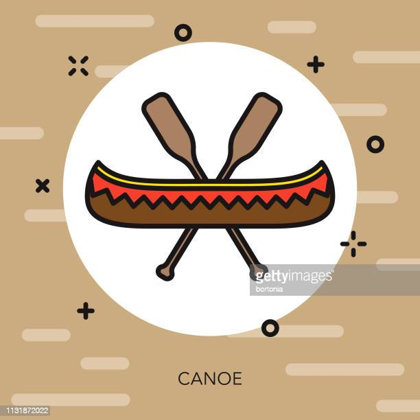 Canoeing Camping Icon