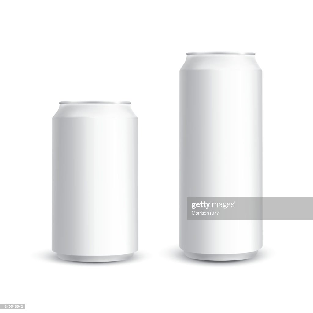 Cans photorealistic vector