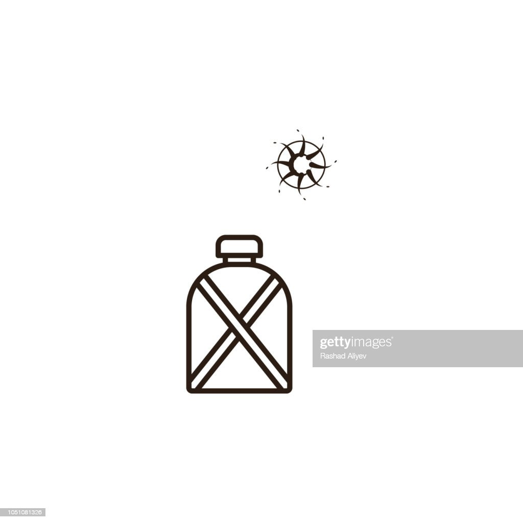 canteen, desert icon. Element of desert icon for mobile concept and web apps. Hand draw canteen, desert icon can be used for web and mobile