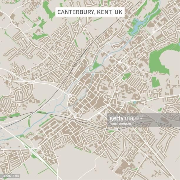 Canterbury Kent UK City Street Map