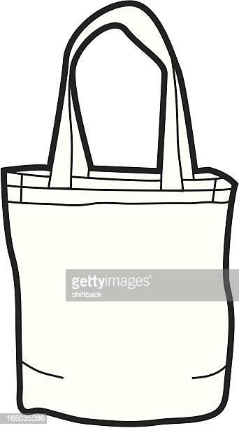 illustrations, cliparts, dessins animés et icônes de sac fourre-tout en toile - sac
