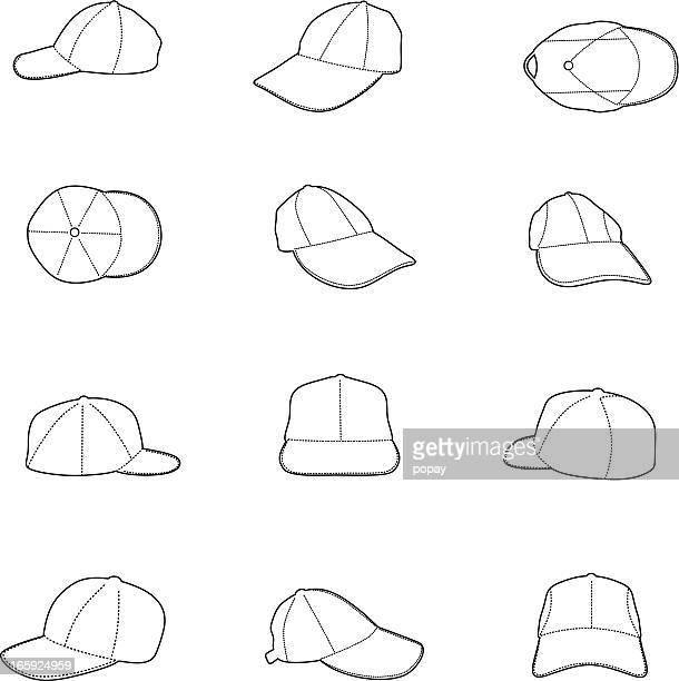 cap silhouette - helmet visor stock illustrations, clip art, cartoons, & icons