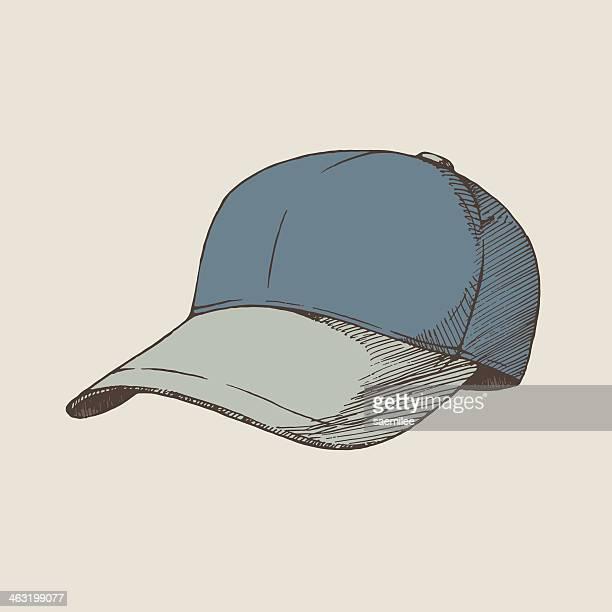 illustrazioni stock, clip art, cartoni animati e icone di tendenza di cap - berretto da baseball