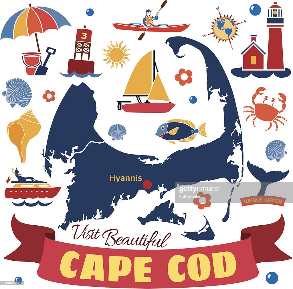Cape Cod map with icons