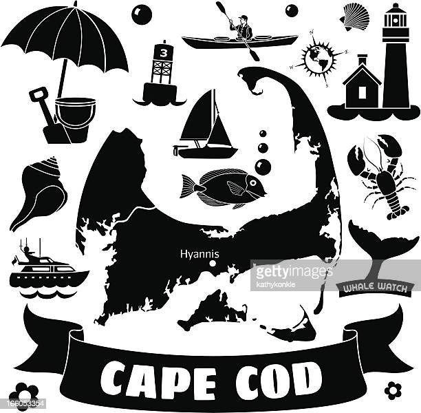 cape cod - motorboating stock illustrations, clip art, cartoons, & icons