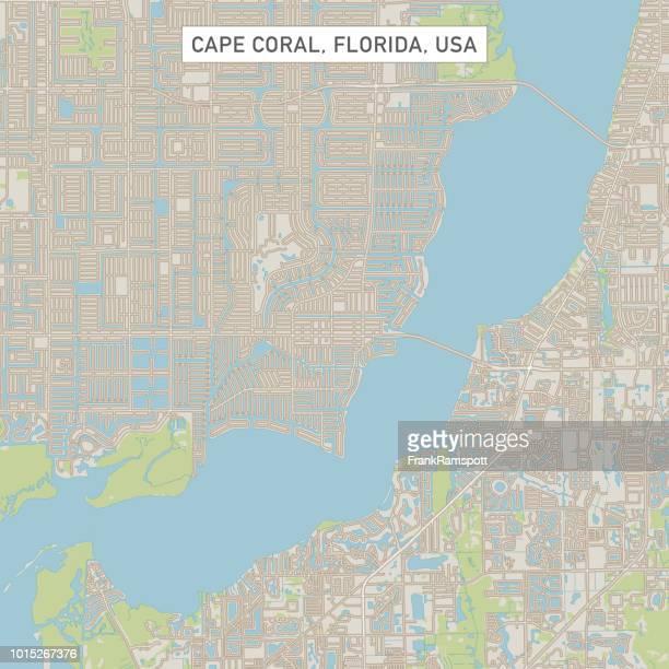 Cape Coral Florida USA Stadtstraße Karte