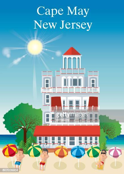 cape may new jersey - cape may stock illustrations
