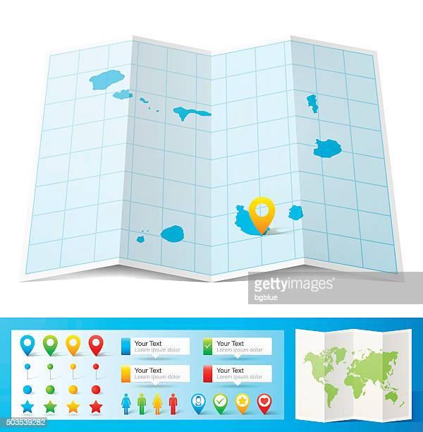 ilustrações, clipart, desenhos animados e ícones de cabo verde mapa com localização bótons isolado no fundo branco - cabo verde