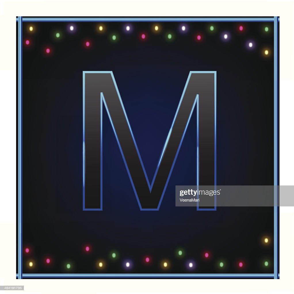 Capital Letter M : Vector Art