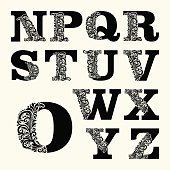 Capital letters set 2,  Baroque. Use monograms, logos, emblems , initials.