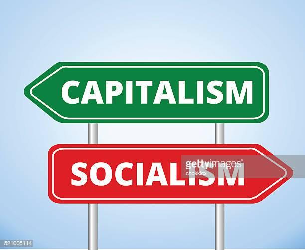 ilustraciones, imágenes clip art, dibujos animados e iconos de stock de el capitalismo vs. socialismo - socialismo