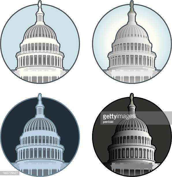 capitol building dome - architectural dome stock illustrations, clip art, cartoons, & icons