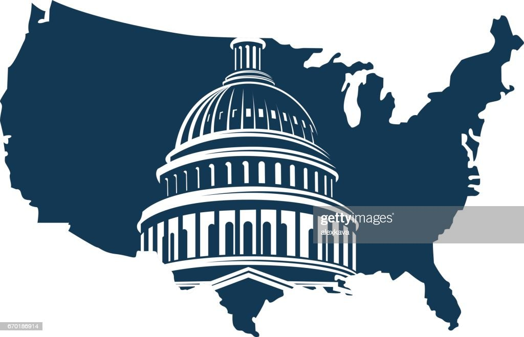 capitol building on background of the map