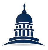 Capitol building temple icon vector design