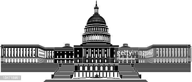 capitol building - senat stock-grafiken, -clipart, -cartoons und -symbole