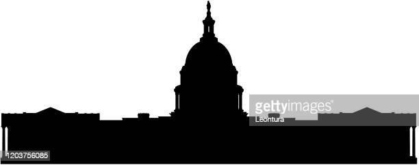 capitol building - capitol building washington dc stock-grafiken, -clipart, -cartoons und -symbole