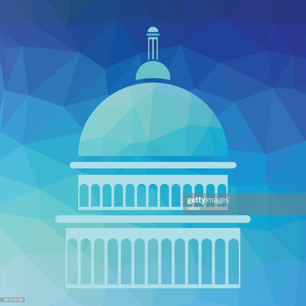 Capitol Silhouette Background