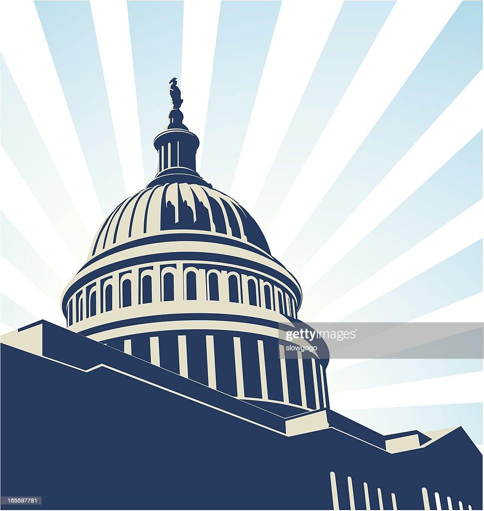 米国会議事堂 : ストックイラストレーション