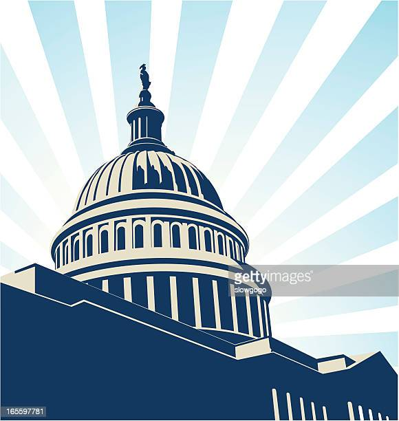 usa capitol - capitol hill stock illustrations