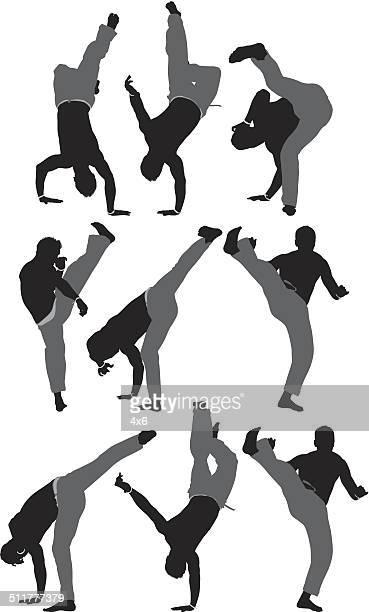 ilustrações de stock, clip art, desenhos animados e ícones de coleção de capoeira - capoeira