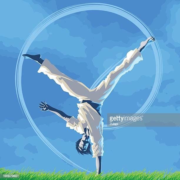 ilustrações de stock, clip art, desenhos animados e ícones de capoeira alegria - capoeira