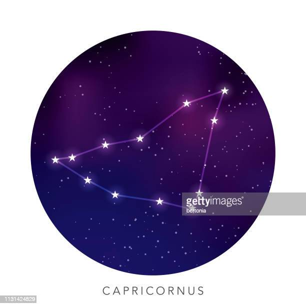 illustrations, cliparts, dessins animés et icônes de constellation de l'étoile capricorne - signe du capricorne