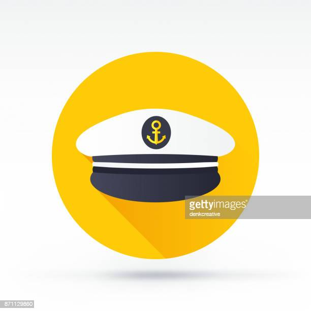 captain icon - hat stock illustrations