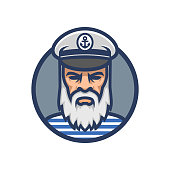 Captain of the ship. Sailor head