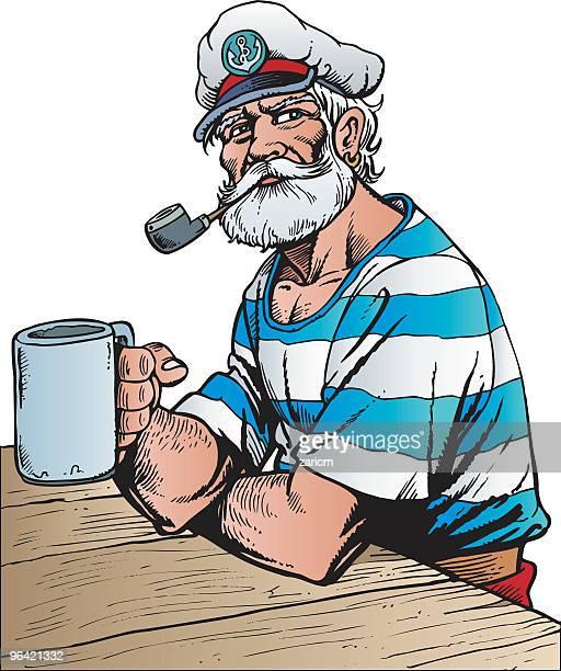captain - bong stock illustrations