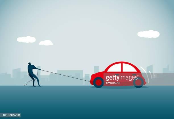 ilustraciones, imágenes clip art, dibujos animados e iconos de stock de accidentes de coche - car crash