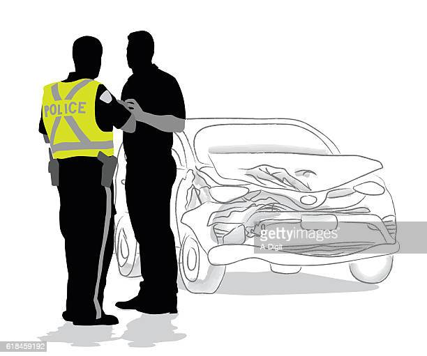 car accident police questions - waistcoat stock illustrations, clip art, cartoons, & icons