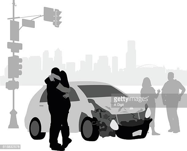 car accident remorse - graphic car accidents stock illustrations