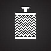 Car air filter on black background for graphic and web design, Modern simple vector sign. Internet concept. Trendy symbol for website design web button or mobile app.