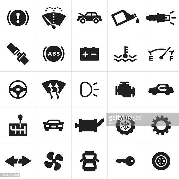 car and automotive symbols and icons - electric fan stock illustrations