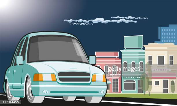 car and city - car ownership stock illustrations, clip art, cartoons, & icons