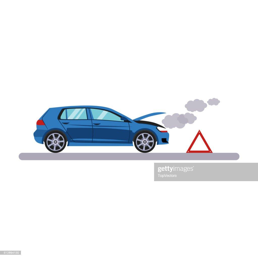 Car and Transportation Breakdown. Vector Illustration