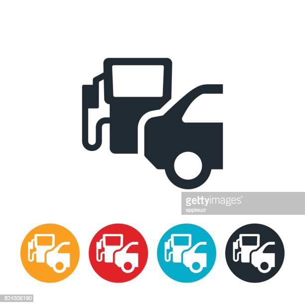 Car At Fuel Pump Icon