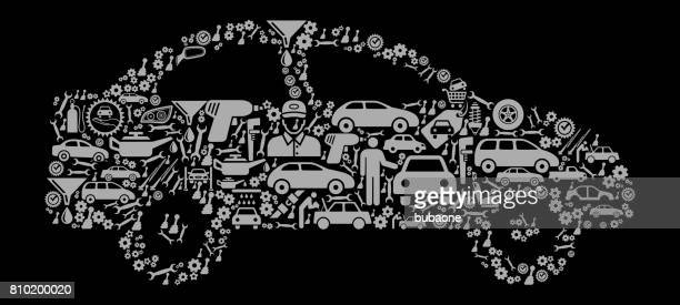 Car  Auto Repair Cars and Automotive Vector Icon Background