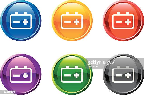 car battery royalty free vector art is 6 colors - car battery stock illustrations, clip art, cartoons, & icons