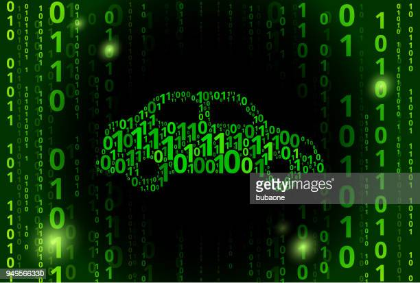 Car Binary Code Vector Pattern Background