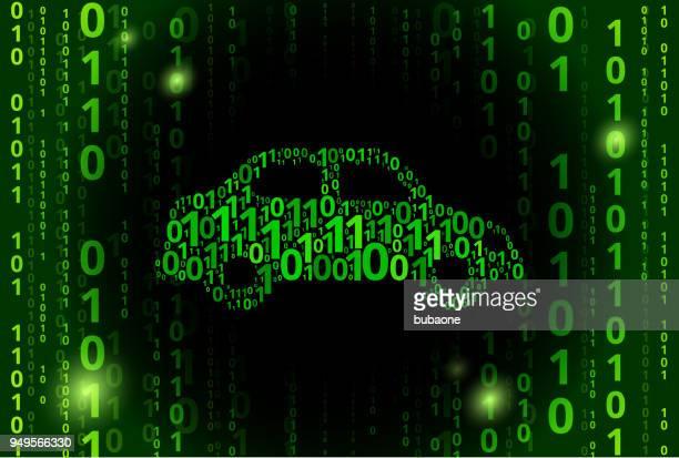 car binary code vector pattern background - hybrid car stock illustrations, clip art, cartoons, & icons