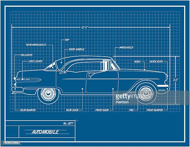 Car blueprint stock illustrations and cartoons getty images car blueprint malvernweather Gallery