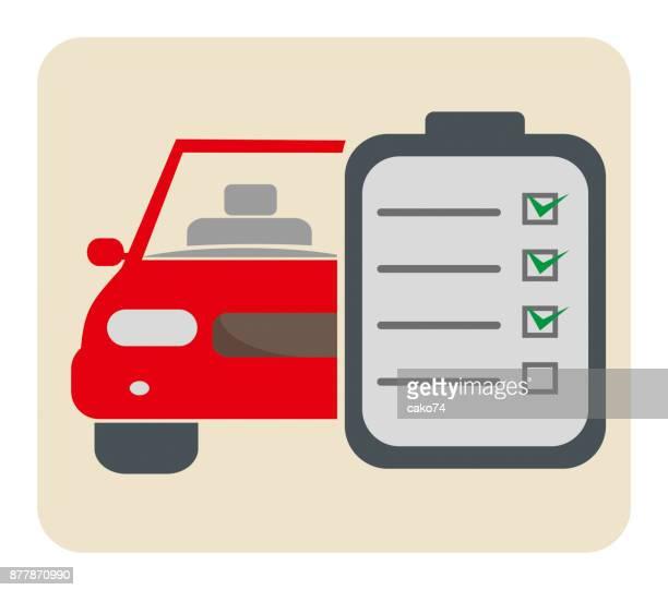 Car check list vector icon