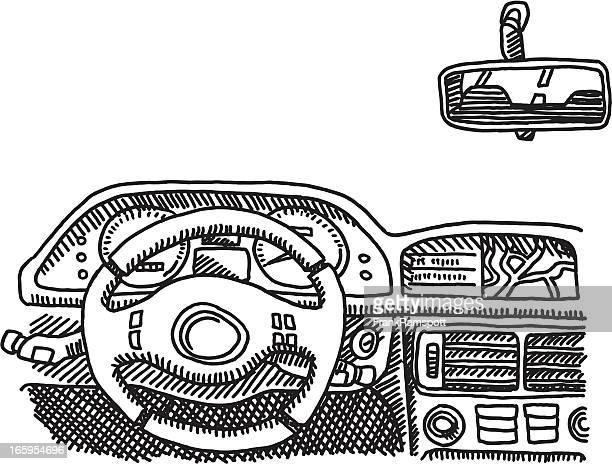Car Cockpit Drawing