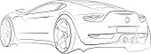 Car concept design sketch