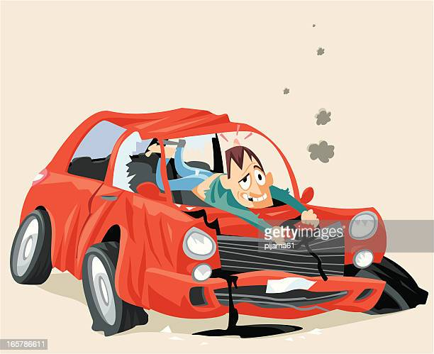 car crash graphic art free licensed - graphic car accidents stock illustrations