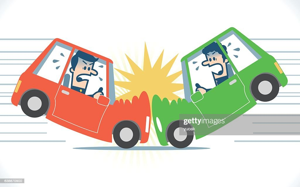 car accident stock illustrations and cartoons getty images rh gettyimages com cartoon car crashing cartoon car crash sound effect