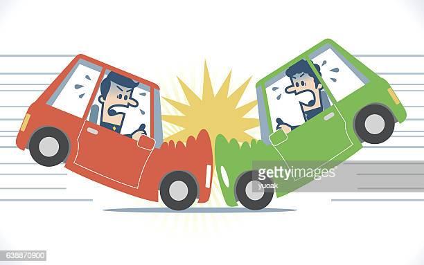 ilustrações de stock, clip art, desenhos animados e ícones de acidente de carro - acidente de carro
